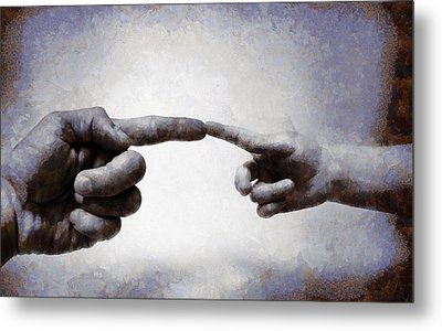 Touch - Id 16236-105010-8442 Metal Print by S Lurk