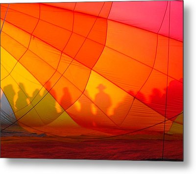 Touch The Rainbow Metal Print by Leah Moore