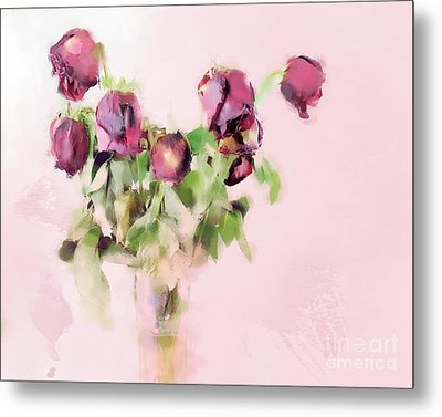 Metal Print featuring the mixed media Touchable by Betty LaRue