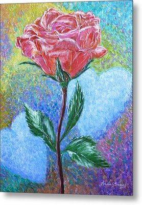 Touched By A Rose Metal Print