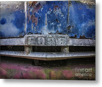 Metal Print featuring the mixed media Tough As Ford by Terry Rowe