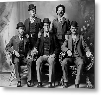 Tough Men Of The Old West 2 Metal Print
