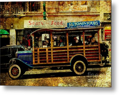 Touring The Streets Of San Francisco . Texture Metal Print