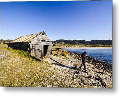 Tourist In East Coast Tasmania Metal Print by Jorgo Photography - Wall Art Gallery