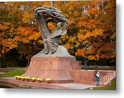 Tourist Visiting Fredric Chopin Monument Metal Print