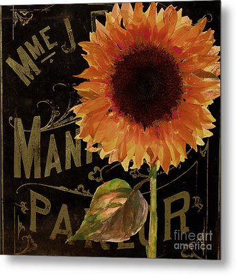 Tournesols Orange Sunflowers Metal Print