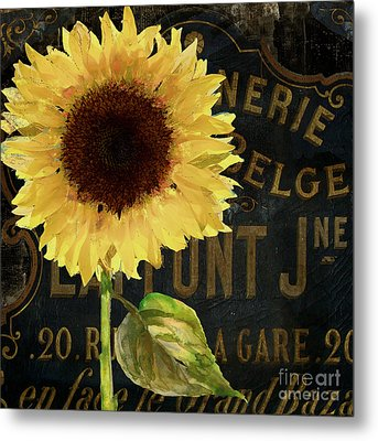 Tournesols Yellow Sunflowers Metal Print
