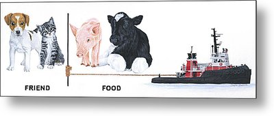 Tow The Line Metal Print by Twyla Francois