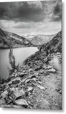 Metal Print featuring the photograph Towards The Silver Divide by Alexander Kunz