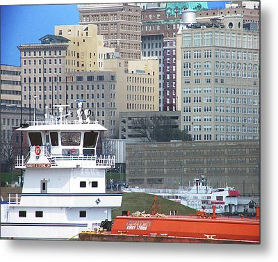 Towboat Robt G Stone At Memphis Tn Metal Print