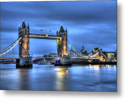 Metal Print featuring the photograph Tower Bridge London Blue Hour by Shawn Everhart