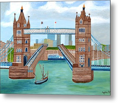 Tower Bridge London Metal Print by Magdalena Frohnsdorff