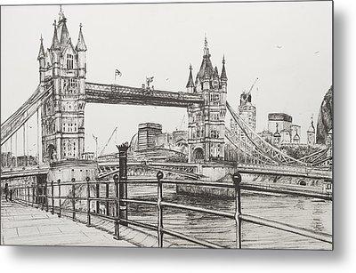 Tower Bridge Metal Print by Vincent Alexander Booth