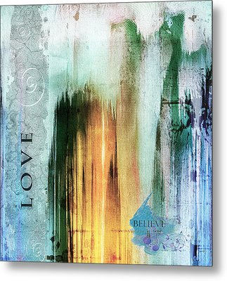 Tower Of Love Abstract Metal Print