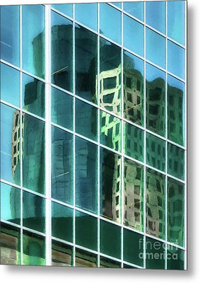 Metal Print featuring the photograph Tower Reflections # 2 by Mel Steinhauer
