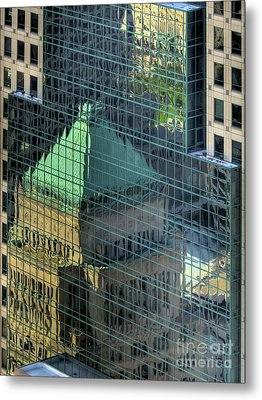 Tower Reflections Metal Print by Mel Steinhauer