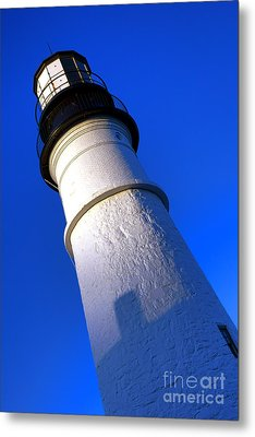 Metal Print featuring the photograph Towering Portland Head Light by Olivier Le Queinec