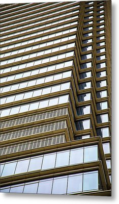 Metal Print featuring the photograph Towering Windows by Karol Livote