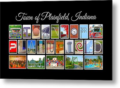 Town Of Plainfield Indiana Metal Print by Dave Lee