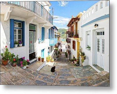 Town Of Skopelos Metal Print by Evgeni Dinev