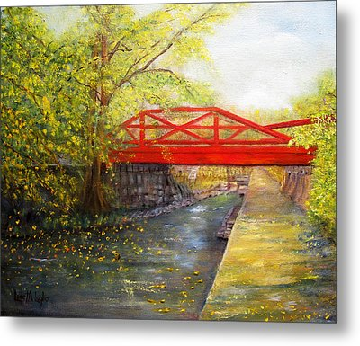 Towpath In New Hope Metal Print