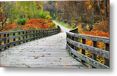 Towpath In Summit County Ohio Metal Print by Kristin Elmquist