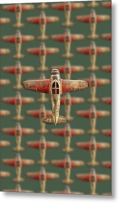 Metal Print featuring the photograph Toy Airplane Scrapper Pattern by YoPedro