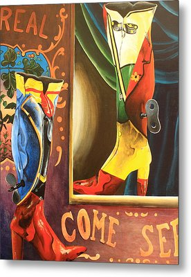 Toy Boots Metal Print by Tamra Pfeifle Davisson