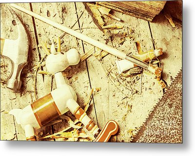 Toy Making At Santas Workshop Metal Print by Jorgo Photography - Wall Art Gallery