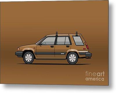 Toyota Tercel Sr5 4wd Wagon Al25 Bronze Metal Print by Monkey Crisis On Mars