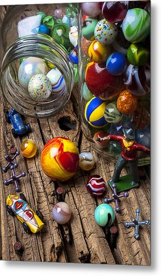 Toys And Marbles Metal Print by Garry Gay
