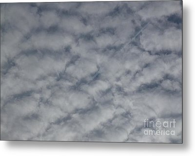 Trace Of Airplane Metal Print by Jean Bernard Roussilhe