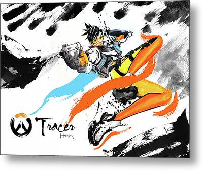 Tracer Overwatch Metal Print by Haze Long