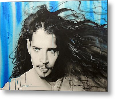 Chris Cornell - ' Track 12 ' Metal Print