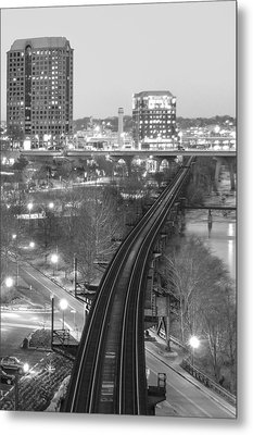 Tracks Into The City Metal Print