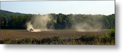 Metal Print featuring the photograph Tracteur Enfume by Marc Philippe Joly