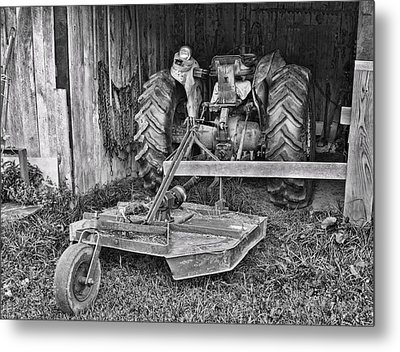 Tractor Metal Print by Denise Romano