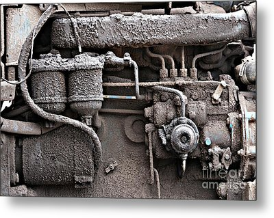 Metal Print featuring the photograph Tractor Engine II by Stephen Mitchell