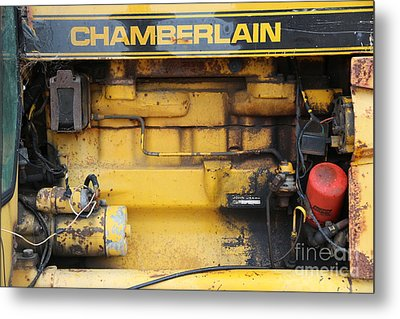 Metal Print featuring the photograph Tractor Engine Iv by Stephen Mitchell