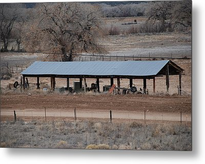 Tractor Port On The Ranch Metal Print by Rob Hans