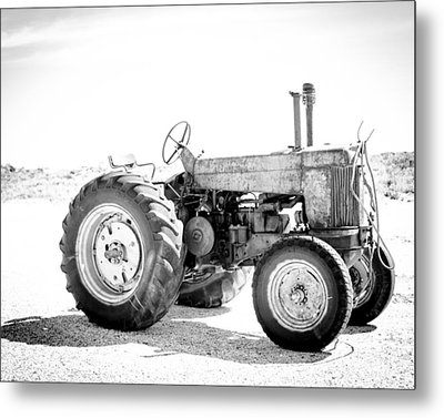 Metal Print featuring the photograph Tractor by Silvia Bruno