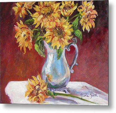 Tracy's Sunflowers Metal Print