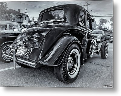 Tradional Hot Rod Metal Print by Ken Morris