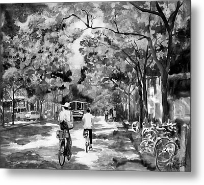Tradition Vs Modernism Metal Print by Eileen  Fong