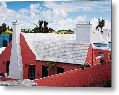 Traditional Bermuda Style House Metal Print by George Oze