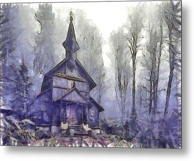 Traditional Church - Da Metal Print by Leonardo Digenio