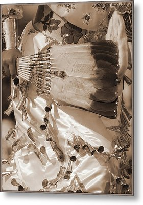 Metal Print featuring the photograph Traditional Dancer In Sepia by Heidi Hermes