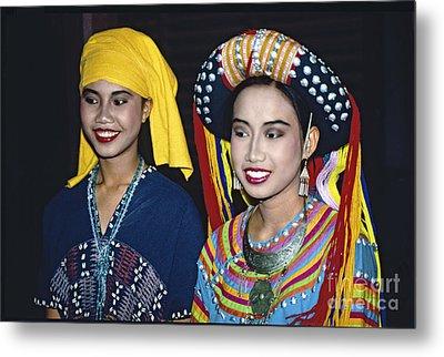Traditional Dressed Thai Ladies Metal Print by Heiko Koehrer-Wagner