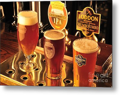 Traditional English Beers Metal Print by Andy Smy
