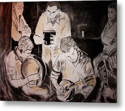 Traditional Irish Music Session Metal Print by Gerard Dillon